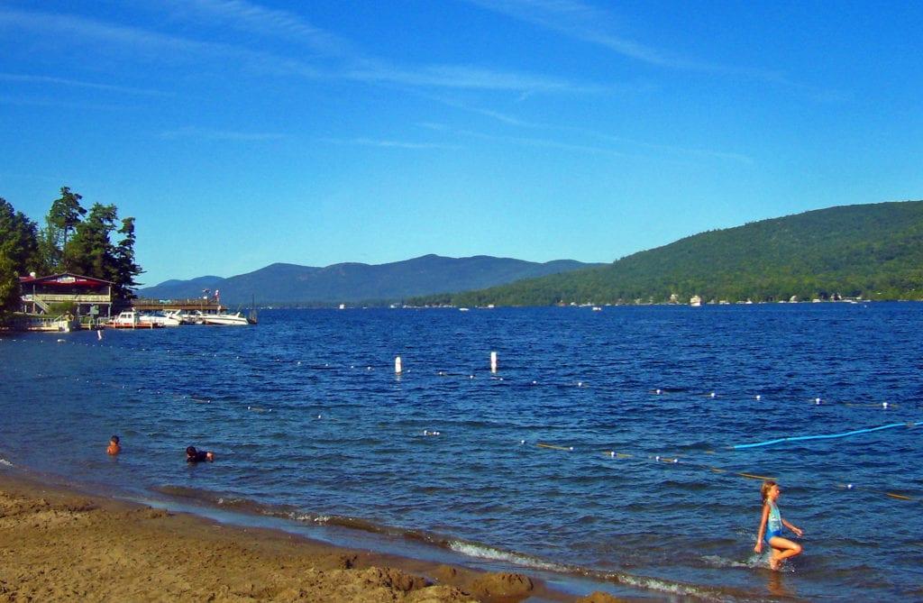 view of lake george beach