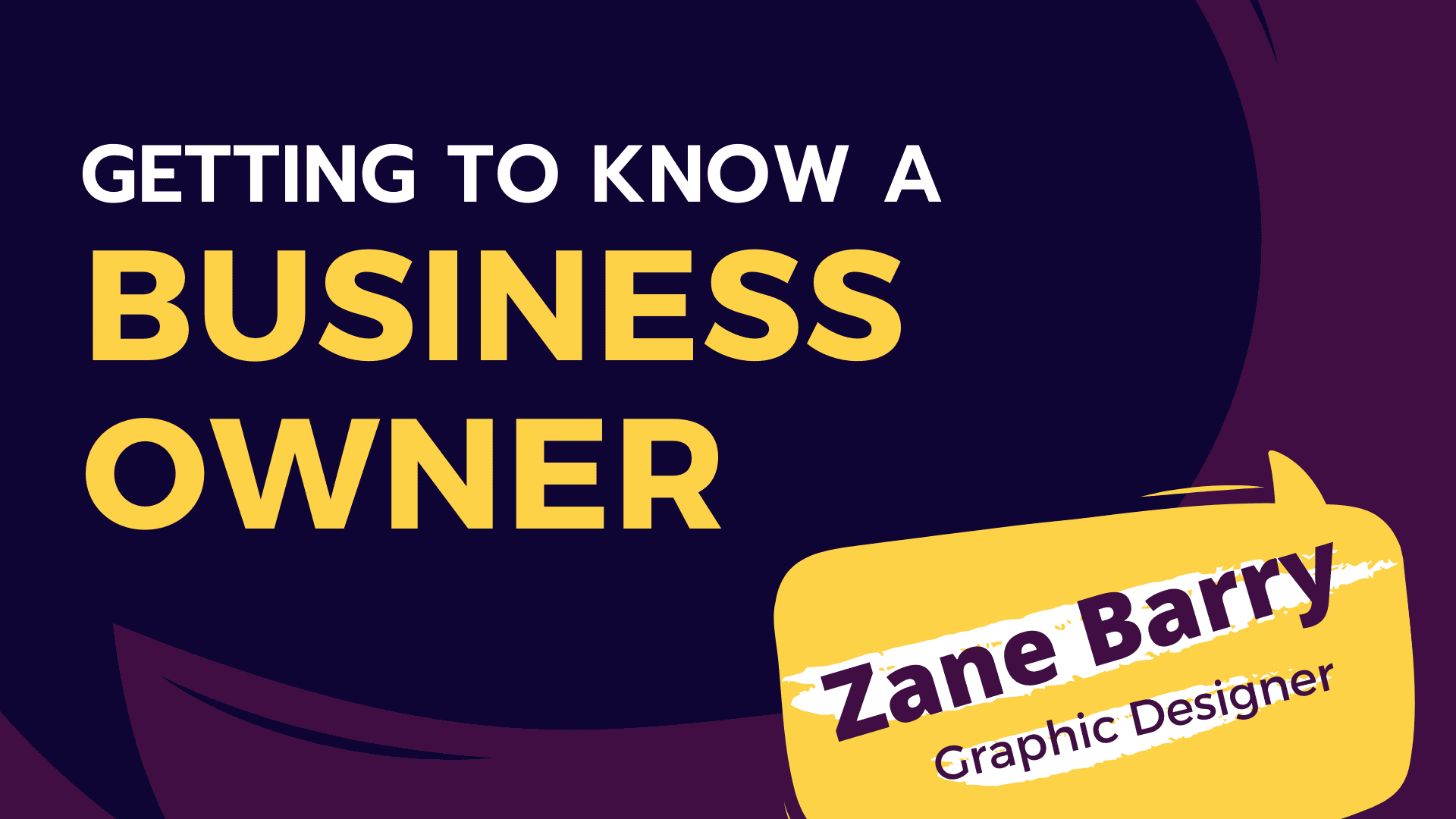 Getting to Know a Business Owner: Zane Barry