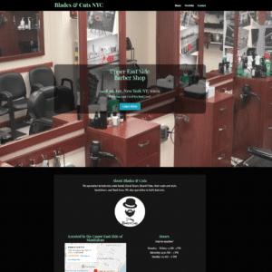 blades and cuts nyc website screenshot
