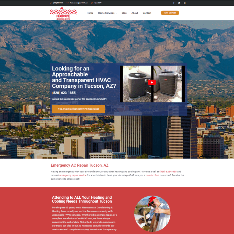 heatwave air conditioning and heating website