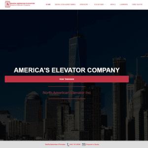 north american elevator website screenshot