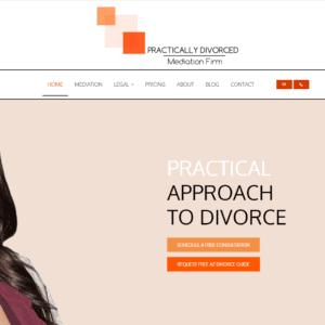 practically divorced website screenshot
